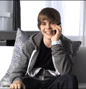 Justin Bieber - one time video screen cap