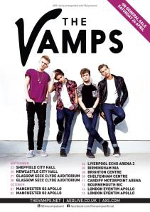 The Vamps UK Headlining Tour poster