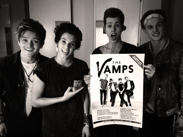 The Vamps UK Headlining Tour twitter pic