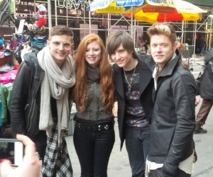 Hot Chelle Rae - MTV 7Feb14 fan photo