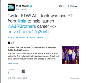 AJR Sia VH1music twitter
