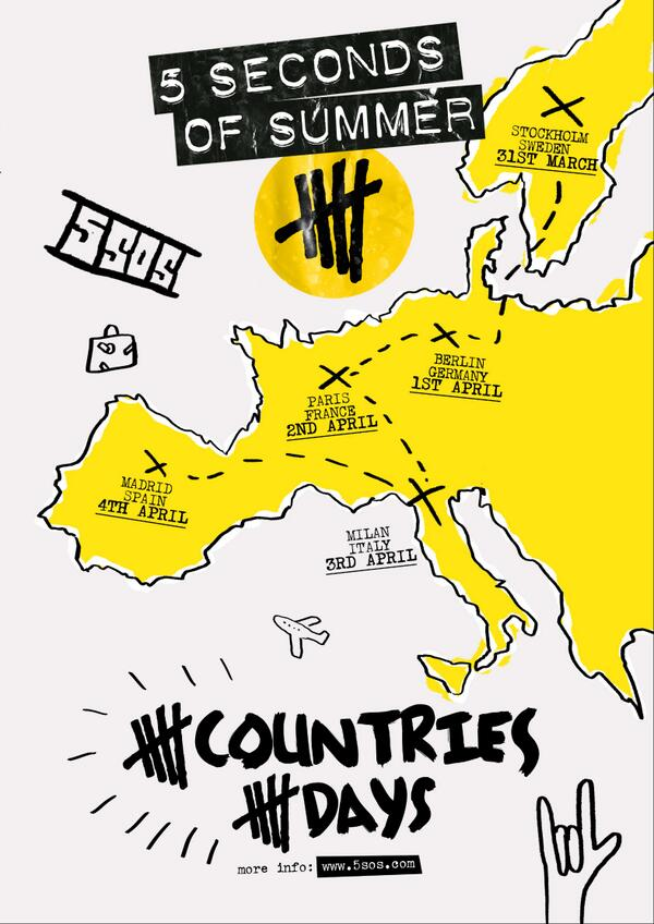 5SOS 5countries5days mini tour 2014