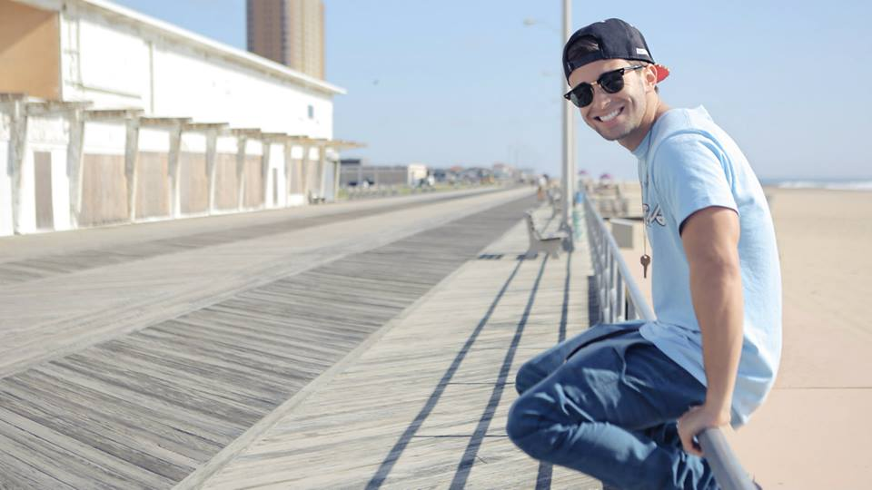 Jake Miller on the boardwalk