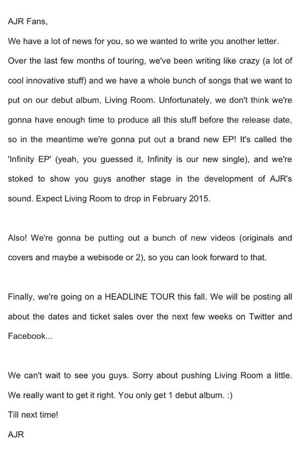 AJR To Release Debut Album Living Room September 30th