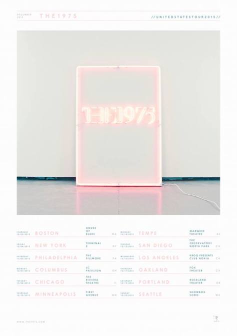 the 1975 winter tour flyer
