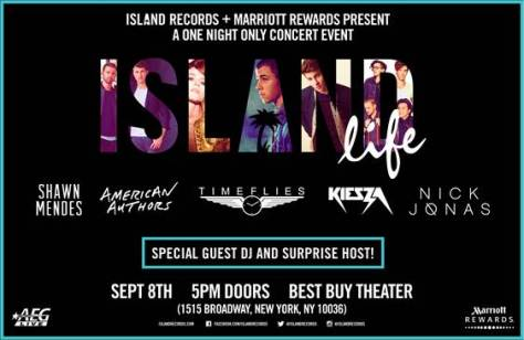 Island Records showcase header