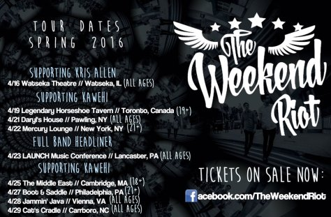 weekendriot spring2016tour