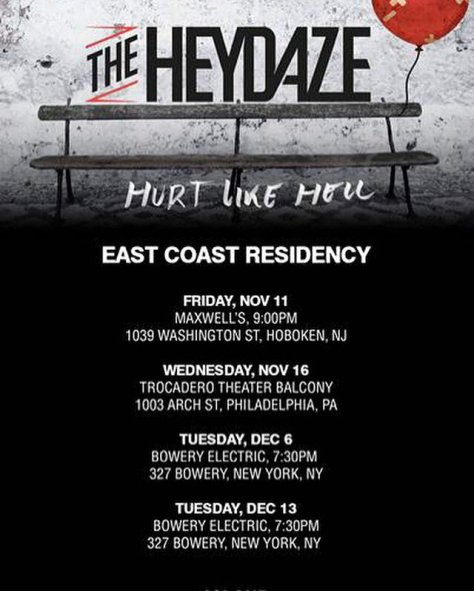 THE HEYDAZE east coast flyer 2016