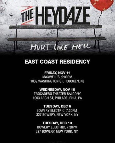 THE HEYDAZE east coast flyer 2016